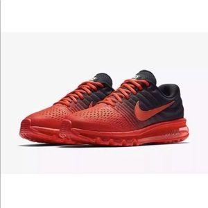Nike Air Max 2017 Bright Black Crimson Men Shoes